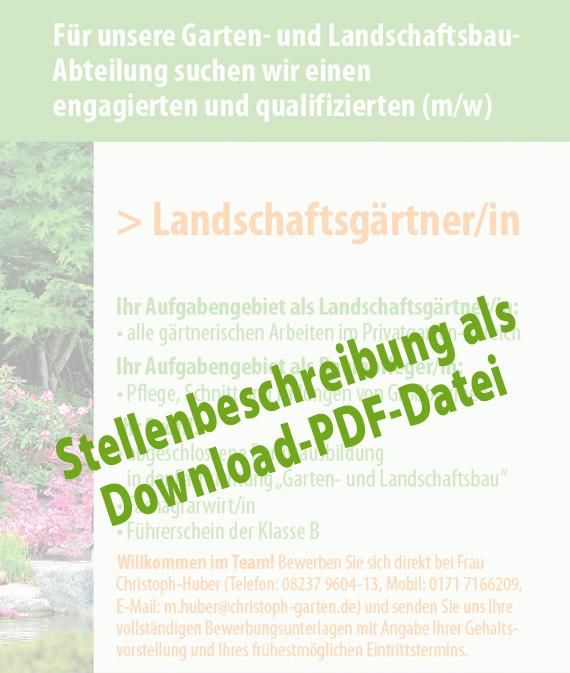 Christophs garten und landschaftsbau stellenangebot - Garten und landschaftsbau st ingbert ...
